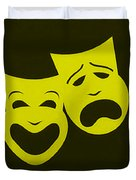 Comedy N Tragedy Yellow Duvet Cover
