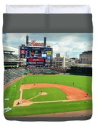 Comerica Park, Home Of The Detroit Tigers Duvet Cover
