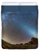 Comet Lovejoy And Zodiacal Light Duvet Cover