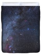 Comet Lovejoy In The Winter Sky Duvet Cover