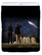 Comet Over The City Duvet Cover