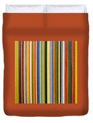 Comfortable Stripes Duvet Cover by Michelle Calkins