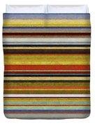 Comfortable Stripes Vl Duvet Cover by Michelle Calkins