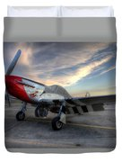 Comfortably Numb Buttoned Up For The Night At The Hollister Airshow Duvet Cover