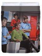 Comic Relief Duvet Cover by Kim Lockman