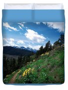 Comin' Round The Mountain Duvet Cover