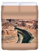 Coming Around Horseshoe Bend Page Arizona Colorado River  Duvet Cover