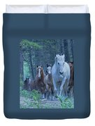 Coming Up The Hill Duvet Cover
