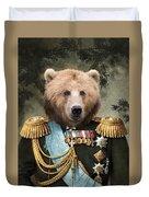 Commander Bear Duvet Cover