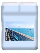 Commercial Pier On Monterey Bay-california  Duvet Cover