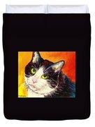 Commission Your Pets Portrait By Artist Carole Spandau Bfa Ecole Des Beaux Arts  Duvet Cover