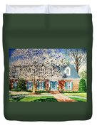 Commissioned House Portrait  Duvet Cover