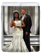 Commissioned Wedding Portrait  Duvet Cover