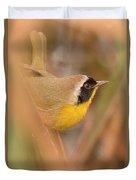 Common Yellow-throat In Hiding Duvet Cover