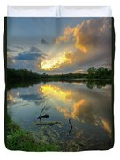 Community Lake #8 Sunset Duvet Cover