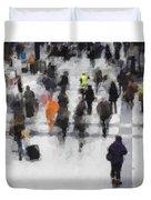 Commuter Art Abstract Duvet Cover
