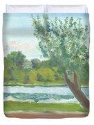 Como Lake By The Pavilion Duvet Cover