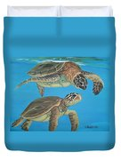 Companions Of The Sea Duvet Cover