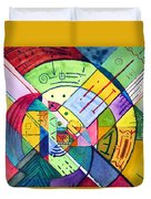 Compartmentalized Information Duvet Cover