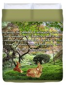 Compassion And Goodness Duvet Cover