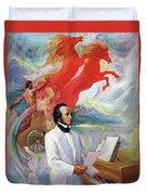 Composer Felix Mendelssohn Duvet Cover