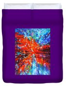 Composition # 2. Series Abstract Sunsets Duvet Cover