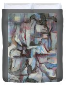 Composition In Blue 1 Duvet Cover