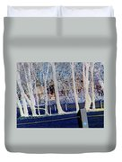 Composition Of Trees Duvet Cover