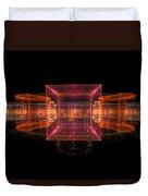 Computer Generated 3d Abstract Fractal Flame Modern Art Duvet Cover