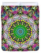 Concentric Colors Abstract Duvet Cover