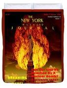 Concept Magazine Cover For The Imaginary New York Weekend Journal 5 Jan 2018 V2 Duvet Cover
