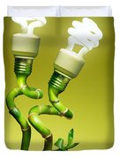Conceptual lamps Duvet Cover by Carlos Caetano