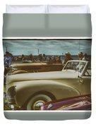 Concours Vintage Car Show Duvet Cover