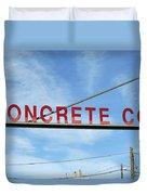 Concrete Company Duvet Cover