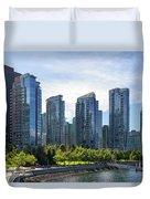 Condominium Waterfront Living In Vancouver Bc Duvet Cover