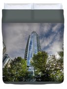 Condominiums Along Waterfront In Vancouver Bc Duvet Cover