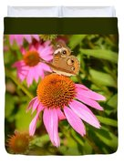 Cone Flower Visitor Duvet Cover