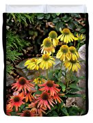 Cone Flowers Duvet Cover