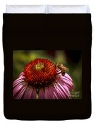 Coneflower Bee Duvet Cover