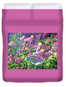 Coneflowers In Gentle Wind Duvet Cover