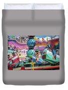Coney Island Amusement Ride Duvet Cover