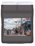 Coney Island Boardwalk II Duvet Cover