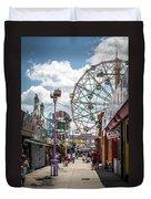 Coney Island Boardwalk IIi Duvet Cover