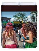 Coney Island Girls Duvet Cover