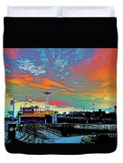 Coney Island In Living Color Duvet Cover