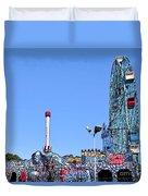 Coney Island's Astroland  Duvet Cover