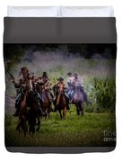 Confederate Cavalry Charge Duvet Cover