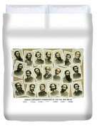 Confederate Commanders Of The Civil War Duvet Cover