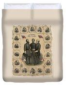 Confederate Generals Of The Civil War Duvet Cover