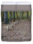 13 Unknown Confederate Soldiers - Natchez Trace Duvet Cover